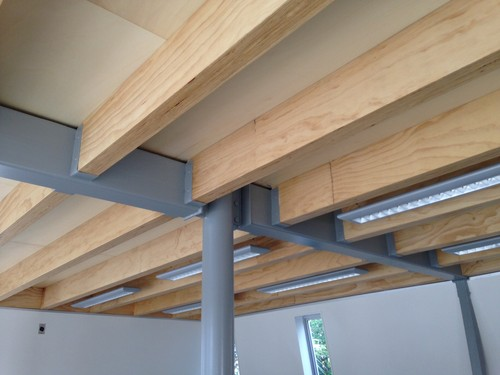 Exposed Ceiling Joists Ideas I Built 90 Lvl And Rafters